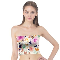 Vector Floral Art Tube Top