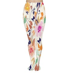 Vector Floral Art Women s Tights