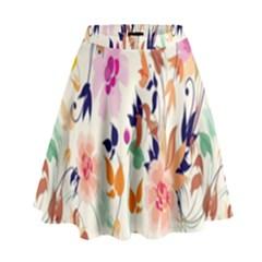 Vector Floral Art High Waist Skirt