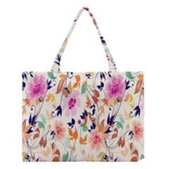 Vector Floral Art Medium Tote Bag