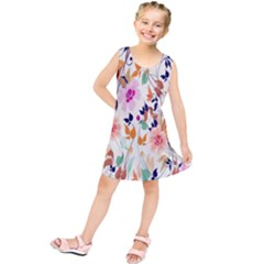 Vector Floral Art Kids  Tunic Dress