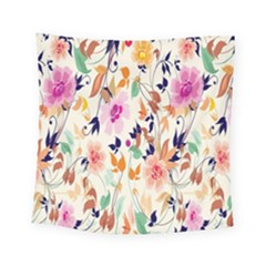 Vector Floral Art Square Tapestry (small)