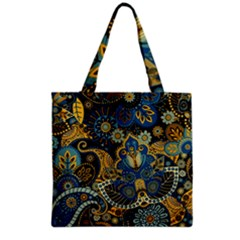 Retro Ethnic Background Pattern Vector Grocery Tote Bag