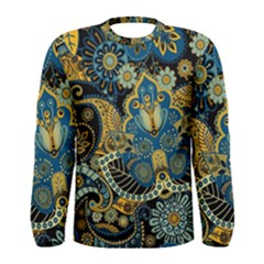 Retro Ethnic Background Pattern Vector Men s Long Sleeve Tee