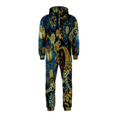 Retro Ethnic Background Pattern Vector Hooded Jumpsuit (kids)