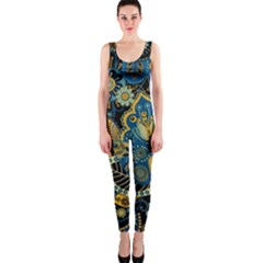 Retro Ethnic Background Pattern Vector Onepiece Catsuit