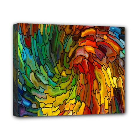 Stained Glass Patterns Colorful Canvas 10  X 8