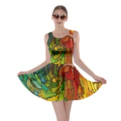 Stained Glass Patterns Colorful Skater Dress