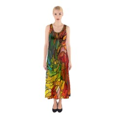 Stained Glass Patterns Colorful Sleeveless Maxi Dress