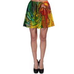 Stained Glass Patterns Colorful Skater Skirt
