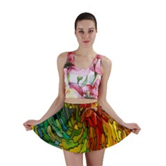 Stained Glass Patterns Colorful Mini Skirt