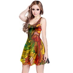 Stained Glass Patterns Colorful Reversible Sleeveless Dress