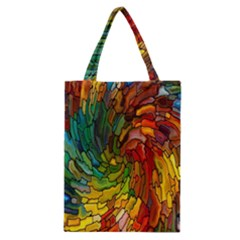 Stained Glass Patterns Colorful Classic Tote Bag