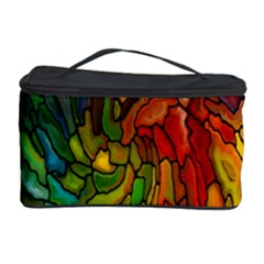 Stained Glass Patterns Colorful Cosmetic Storage Case