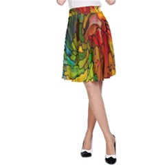 Stained Glass Patterns Colorful A Line Skirt