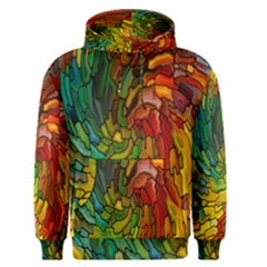 Stained Glass Patterns Colorful Men s Pullover Hoodie