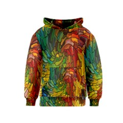 Stained Glass Patterns Colorful Kids  Pullover Hoodie