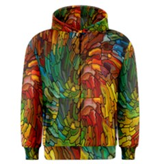 Stained Glass Patterns Colorful Men s Zipper Hoodie
