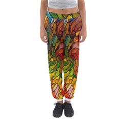 Stained Glass Patterns Colorful Women s Jogger Sweatpants