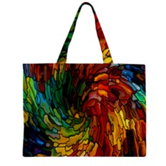 Stained Glass Patterns Colorful Zipper Mini Tote Bag