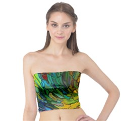 Stained Glass Patterns Colorful Tube Top