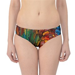 Stained Glass Patterns Colorful Hipster Bikini Bottoms