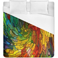 Stained Glass Patterns Colorful Duvet Cover (king Size)
