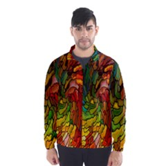 Stained Glass Patterns Colorful Wind Breaker (men)