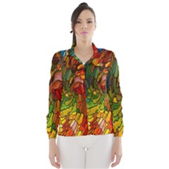 Stained Glass Patterns Colorful Wind Breaker (women)