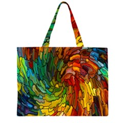Stained Glass Patterns Colorful Large Tote Bag