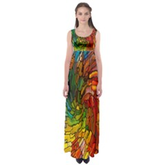 Stained Glass Patterns Colorful Empire Waist Maxi Dress