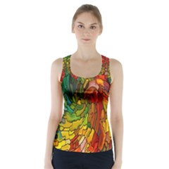 Stained Glass Patterns Colorful Racer Back Sports Top