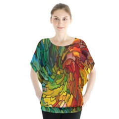 Stained Glass Patterns Colorful Blouse
