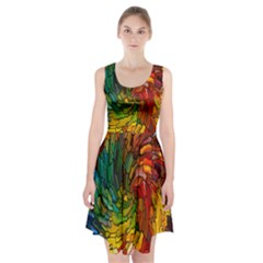 Stained Glass Patterns Colorful Racerback Midi Dress