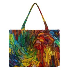 Stained Glass Patterns Colorful Medium Tote Bag