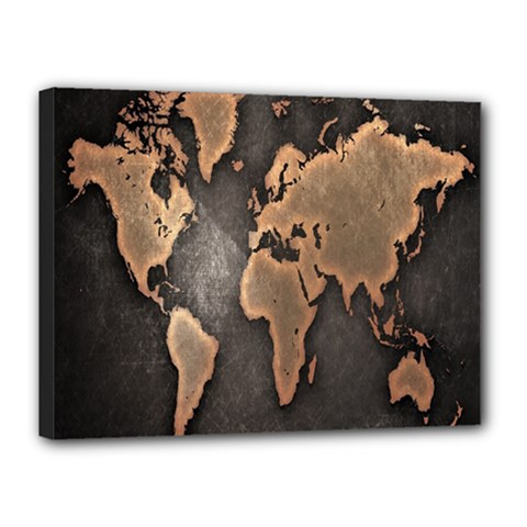Grunge Map Of Earth Canvas 16  X 12