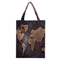 Grunge Map Of Earth Classic Tote Bag