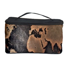Grunge Map Of Earth Cosmetic Storage Case