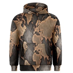 Grunge Map Of Earth Men s Pullover Hoodie