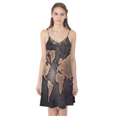 Grunge Map Of Earth Camis Nightgown