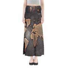 Grunge Map Of Earth Maxi Skirts