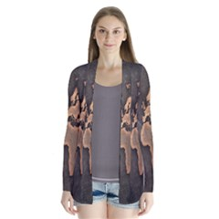Grunge Map Of Earth Cardigans