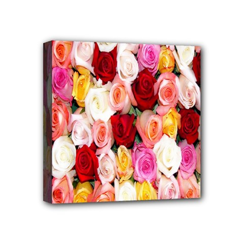 Rose Color Beautiful Flowers Mini Canvas 4  X 4