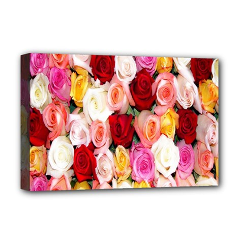 Rose Color Beautiful Flowers Deluxe Canvas 18  X 12