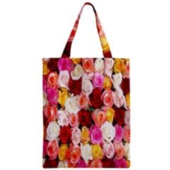 Rose Color Beautiful Flowers Zipper Classic Tote Bag