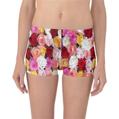 Rose Color Beautiful Flowers Reversible Bikini Bottoms