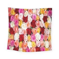 Rose Color Beautiful Flowers Square Tapestry (small)