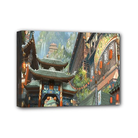 Japanese Art Painting Fantasy Mini Canvas 7  X 5