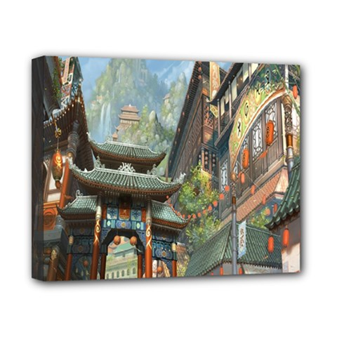 Japanese Art Painting Fantasy Canvas 10  X 8