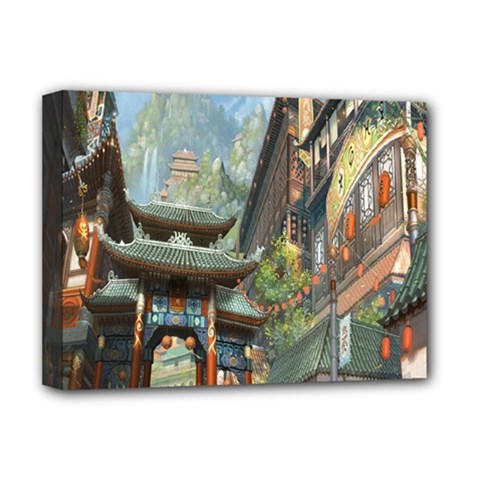Japanese Art Painting Fantasy Deluxe Canvas 16  X 12